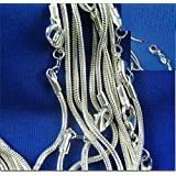 Naomi 925 Sterling Silver Snake Chain Necklace 5Pcs 26Inches