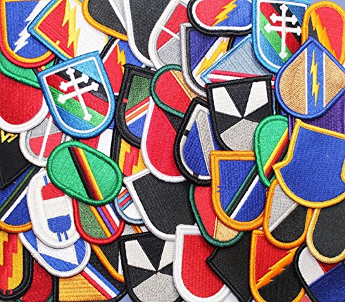 Lot of 50 plus US Army Beret Flash and Oval Military Sew-On Insignia Patches