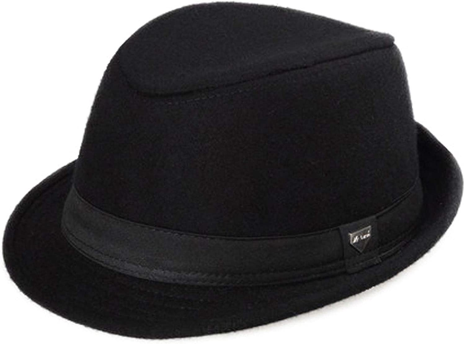 KKONION Women Men Flat Brim Wool Felt Fedora Hats British Retro Hat Lady Jazz Trilby Hat