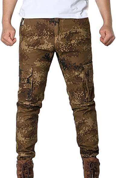 Tefamore Pantalones Largos de Hombre Camuflaje Deporte Pantalón ...
