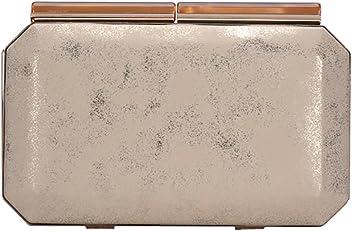 Madison West Kira Clutch Bag: Black - Gold - Black/Gold CLW-2470