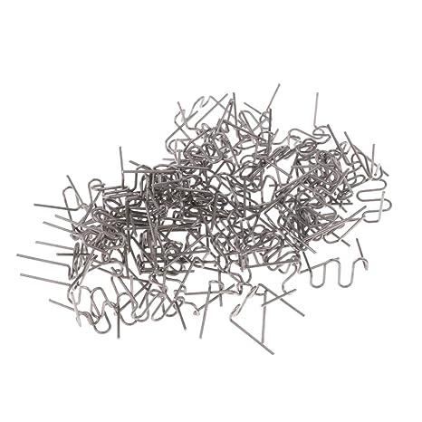 B Blesiya 100 Pcs Soldador de Coche 0.8 mm de Grapas Calientes Pieza de Respuesto -