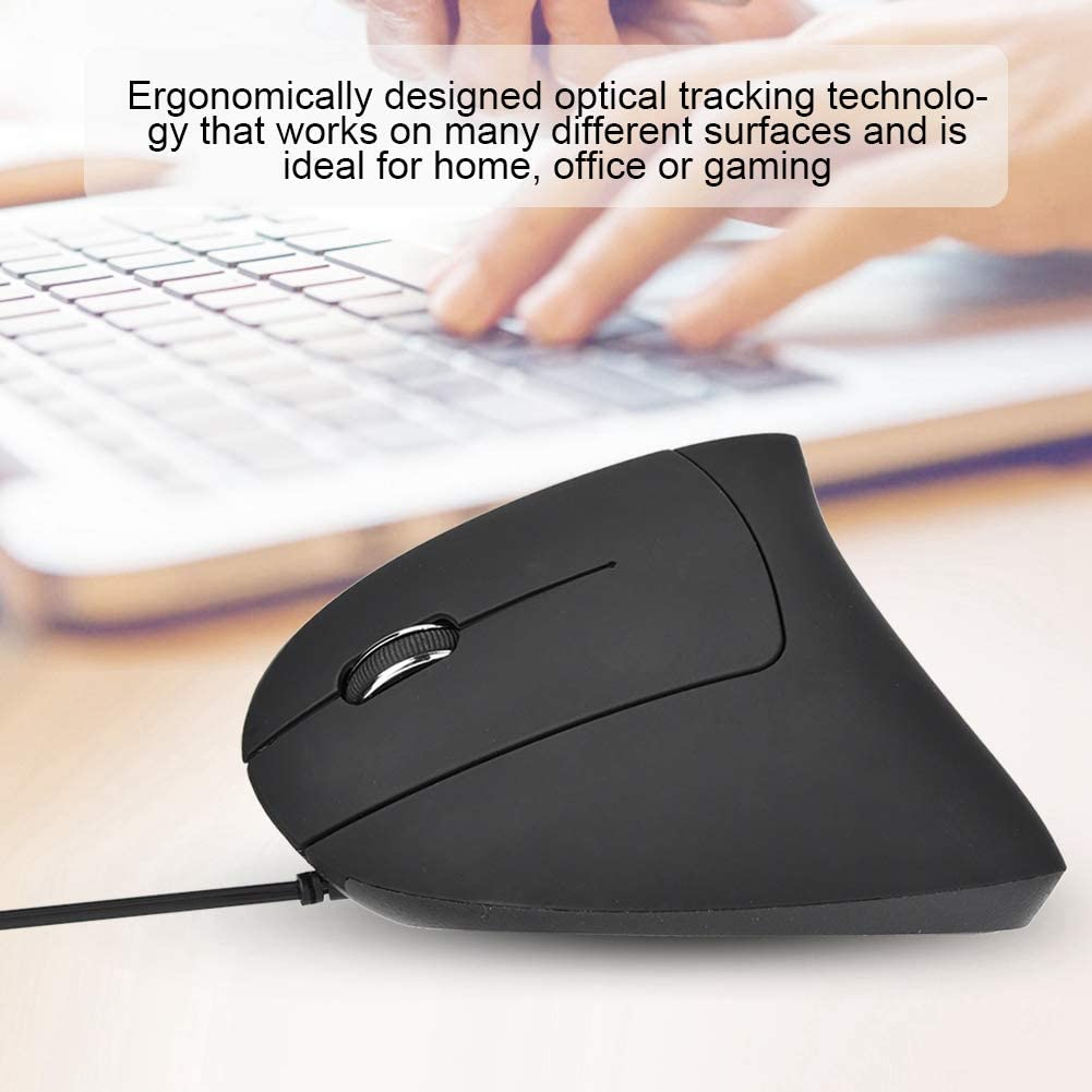 Office or Gaming,Support for Windows 2000 Zopsc Ergonomically Designed Left Hand Vertical Optical USB Wired Mouse,Plug and Play Mode for Home Windows XP Windows 7,Windows 98 Mac OS