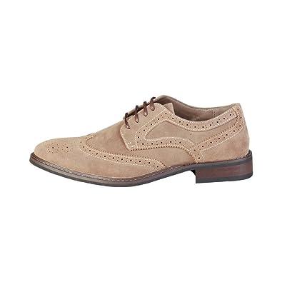 Pierre Cardin Herren GR5010 Braun Leder Derby Schuhe in