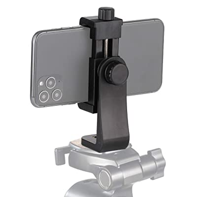Universal Smartphone Cell Phone Mount Holder Adapter for Tripods or Stands with Standard 1/4 Inch Mount Screw, can Rotates Vertically and Horizontally