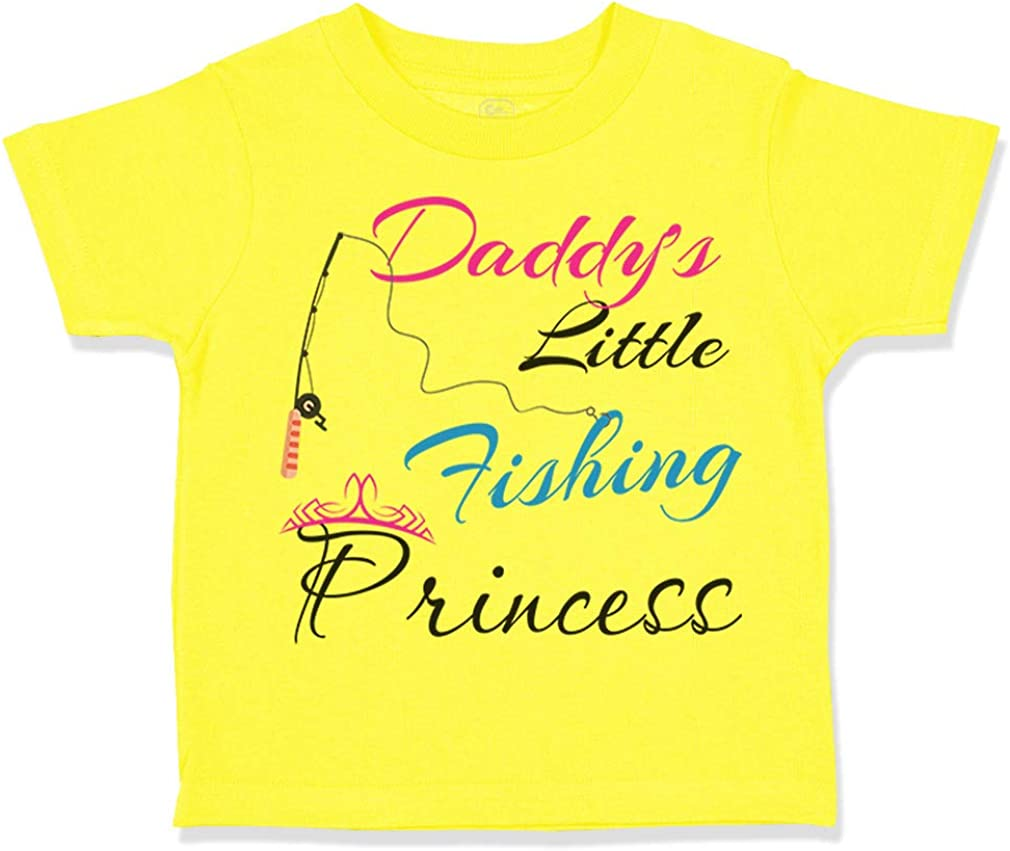 Custom Toddler T-Shirt Daddys Dad Father Little Fishing Princess Fathers Day