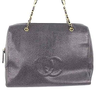 d1a0994dd5ee Amazon | (シャネル) CHANEL 【チェーンショルダー】キャビアスキン ココマークステッチショルダーバッグ(ブラック×ゴールド) 中古 |  レディースバッグ・財布