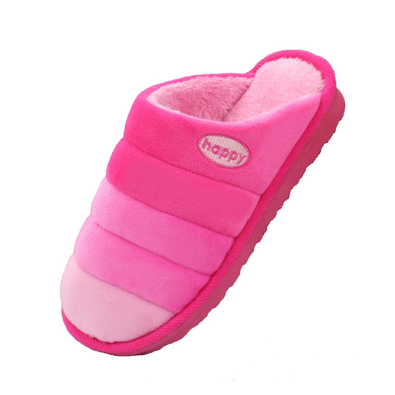 Women Men Cute Rainbow Breathable Velvet Anti-slip Indoor Home Keep Warm XMAS Gift Cotton Slippers