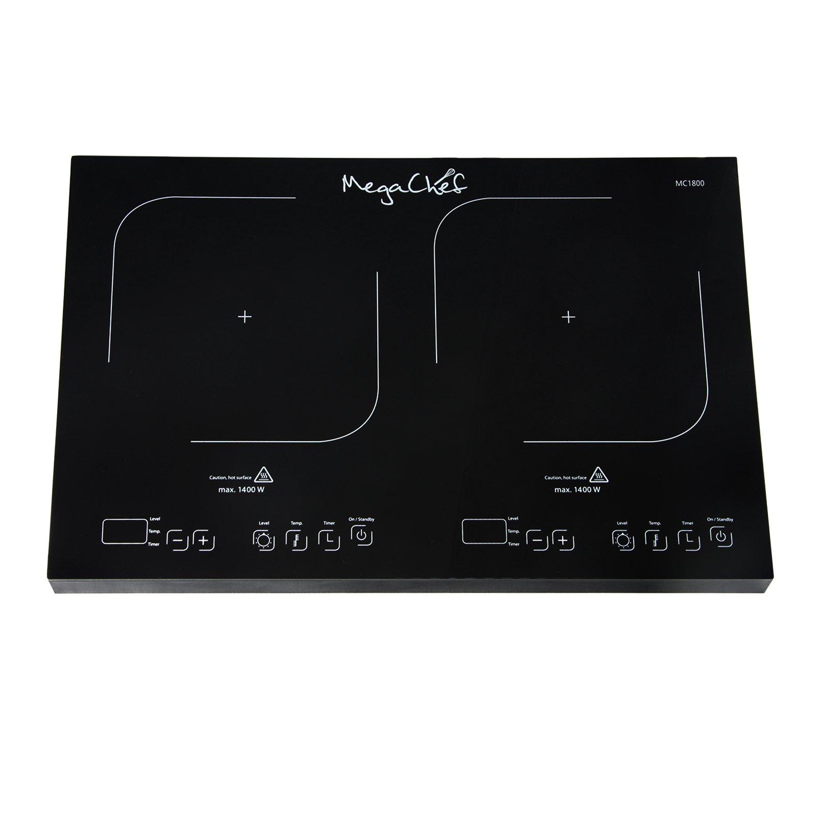 MegaChef Portable Dual Burner Powersharing Induction Cooktop