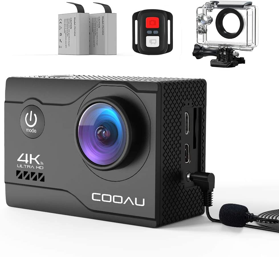 COOAU 4K 20MP Wi-Fi Action Camera