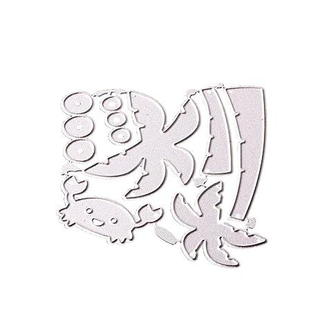 OYSOHE2018 - Plantilla de troquelado para manualidades, álbum de recortes, tarjetas, plantillas de