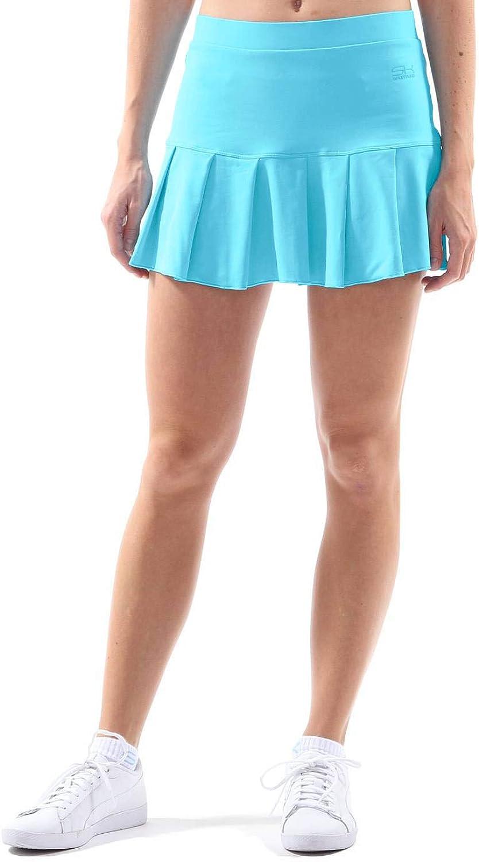 Sportkind Jupe de tennis pour femme et fille avec pantalon int/érieur