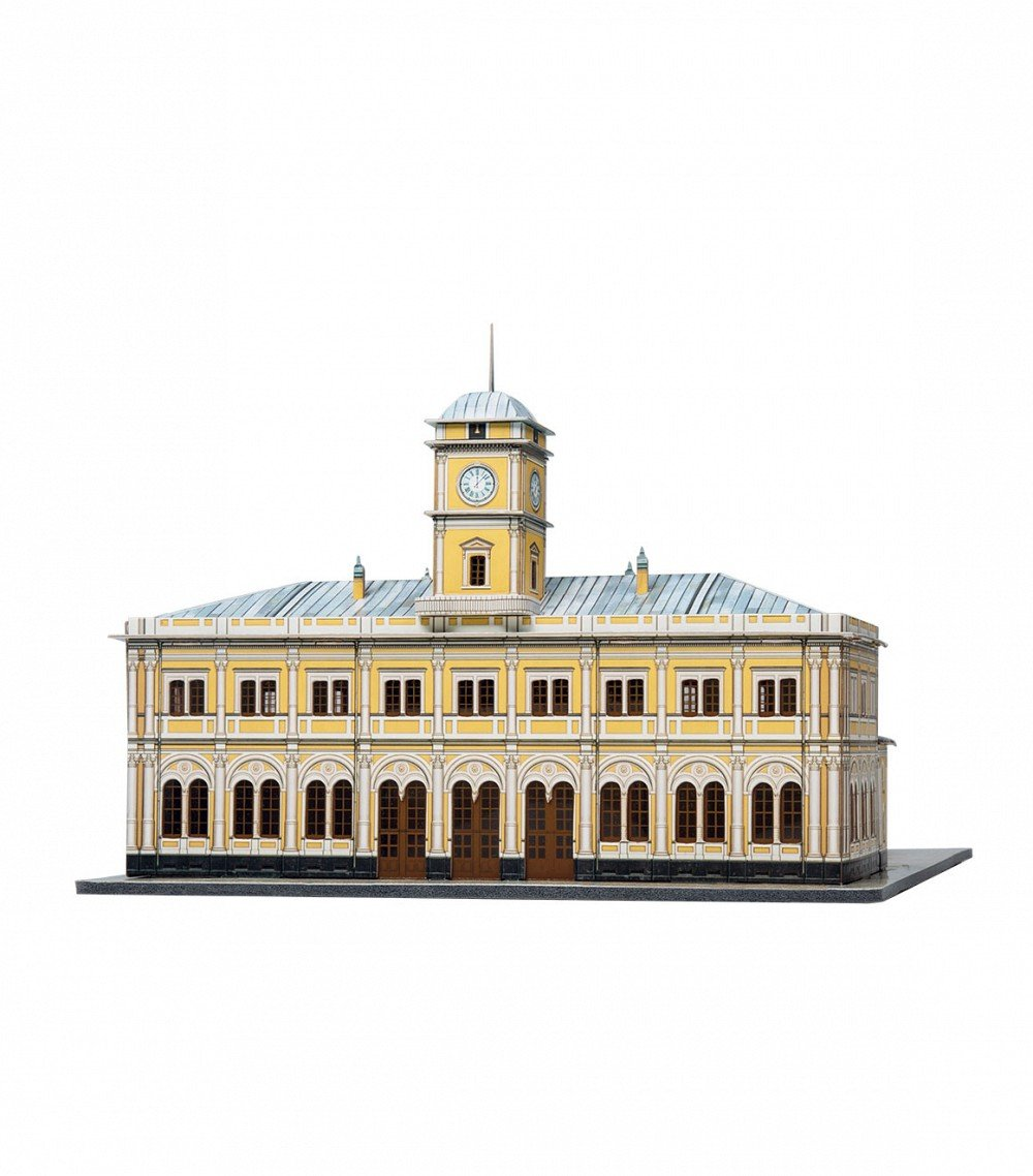 Keranova 356 Clever Paper Historic Buildings Nikolayevsky Railway Station 3D Puzzle, 1/250 Scale, Multi Colour
