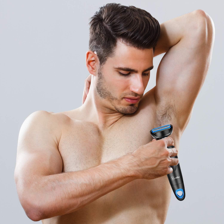 Hatteker Mens Bodygroomer 5 en 1 - Cortapelos para cuerpo y barba ...