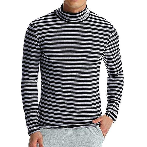 Aufbewahren & Ordnen UFODB Langarmshirt Flexibilität Hoher Kragen Shirt,Männer Einfarbig Slim Fit T-Shirt Top Abfall & Recycling