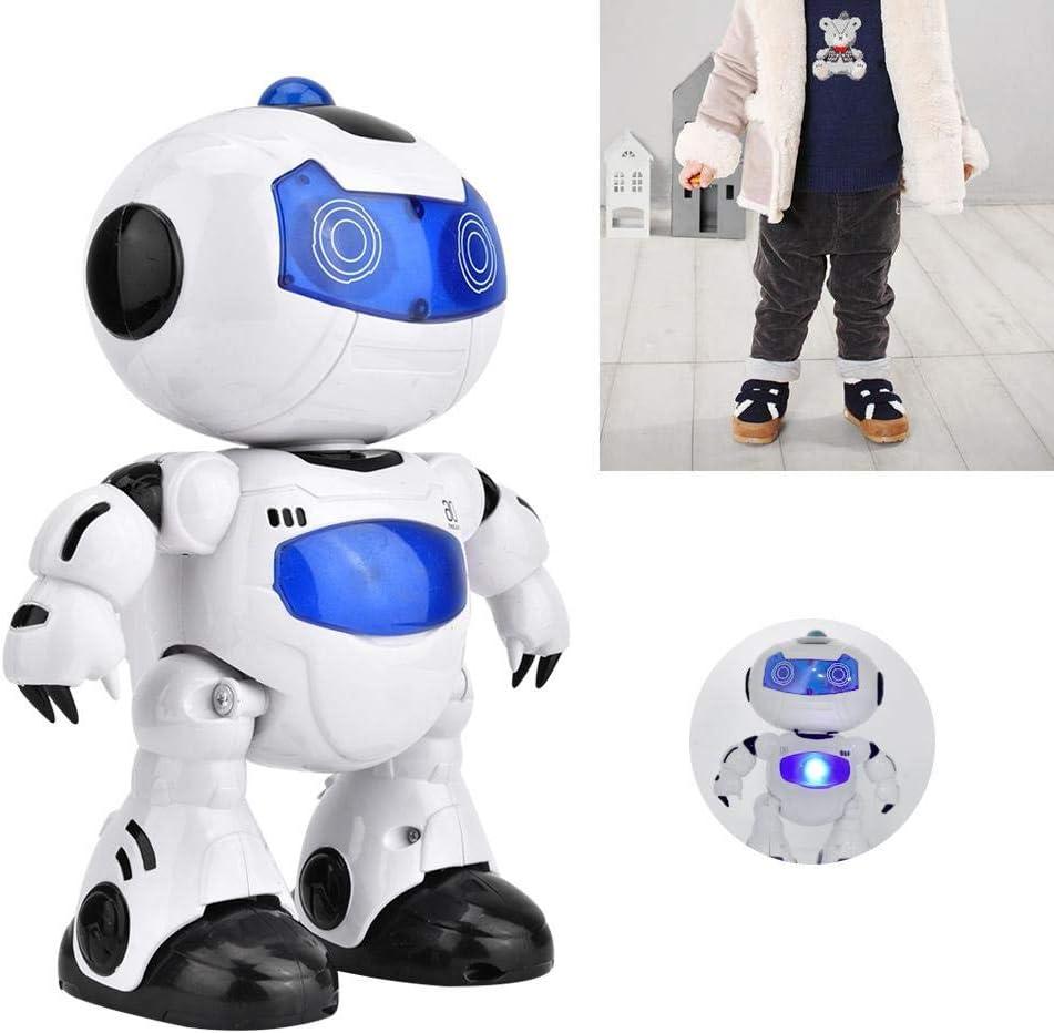 Zerodis Robot avec T/él/écommande pour Enfant Mignon Robot Spatial Robot Jouet Danse Interactif Jeux Electroniques avec Lumi/ères Cadeau Nouveau-n/é Fille et Gar/çon 3-36 Mois sans Batterie