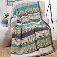 Crochet Striped Afghan Club - 30-Stripe Stitch Sampler Afghan Subscription Club: Seaside Sampler Colorway