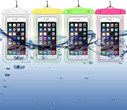 Uni-Wert Funda Móvil Impermeable IPX8, Bolsa Estanca, Seca Bolsa de Teléfono Móvil para iPhone XS,XS MAX,X, 8, 8 Plus,7/7 Plus,Google Pixel, LG, Huawei,Sony,Galaxy hasta 6 Pulgadas, 4 Paquetes: Amazon.es: Electrónica