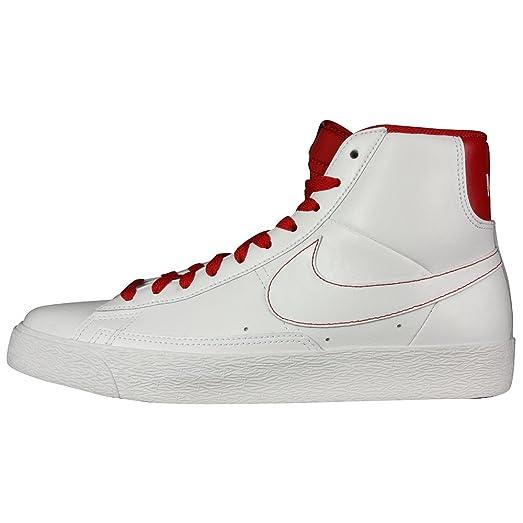 Nike Blazer Alta - Blanco / Rojo Del Equipo Universitario De La Medianoche-azul Marino barato asequible buscando en línea 663uVai