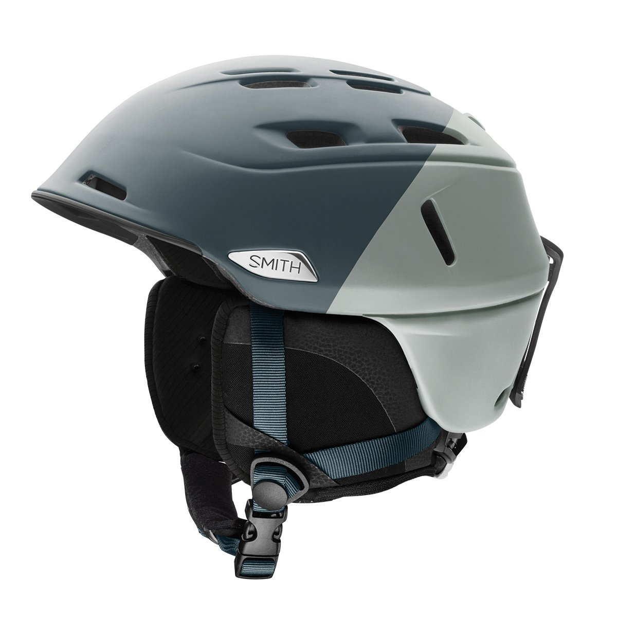 Smith Optics Adult Camber Ski Snowmobile Helmet - Matte Thunder Gray Split / Large by Smith Optics