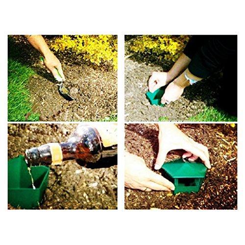 Baoblaze 4X Eco-friendly Snail Cage Slug House Catcher Trap Gintrap Tools Animal Pest, No harm to vegetable and flower by Baoblaze (Image #2)