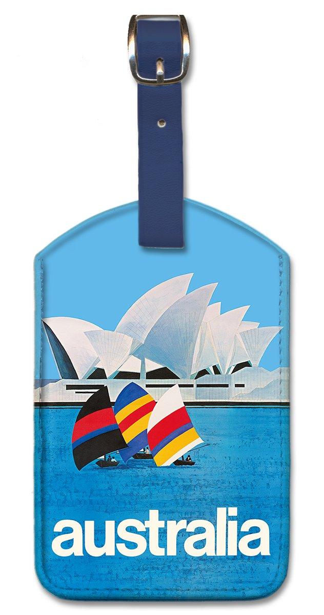 Pacifica Island Art Leatherette Luggage Tag Baggage - Australia Sydney Opera