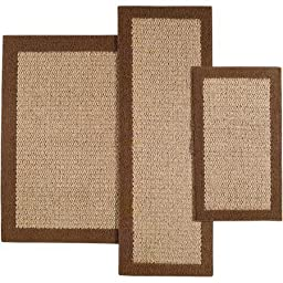 Mainstays Sisal Olefin Accent Rugs, Set of 3