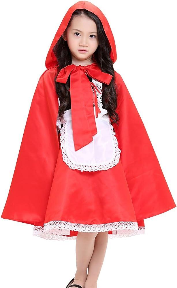 FEOYA - Traje de Caperucita Roja Disfraz de Halloween Feista ...