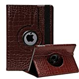 iPad 2 Case, iPad 3 Case, iPad 4 Case, SorbSun 360 Degree Rotating Premium PU Leather Flid Folio Stand Protective Case Smart Cover for iPad 2/3/4 - Brown