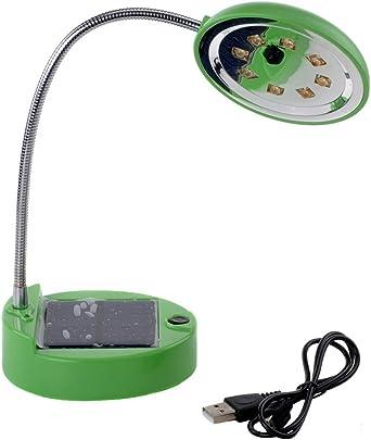 DINOWIN - Lámpara de mesa solar recargable USB portátil flexible ...