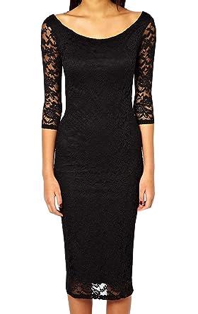 Kleid Schwarz Große Abendkleid Slim Czixun Spitze Sexy Damen Lang 3RLc5jqA4