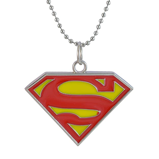 Sarah Superman Pendant Necklace For Men Red Amazon Jewellery