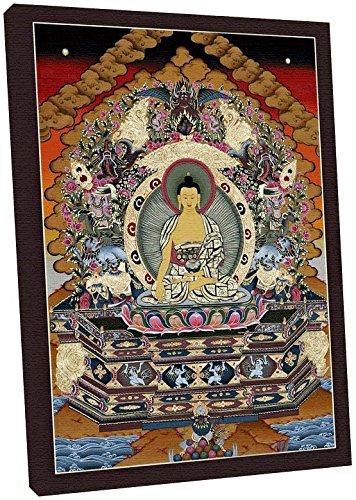 Modern Picture Thangka Buddha Shakyamuni Druck Reproduktion Leinwandbild 40 x 50 cm