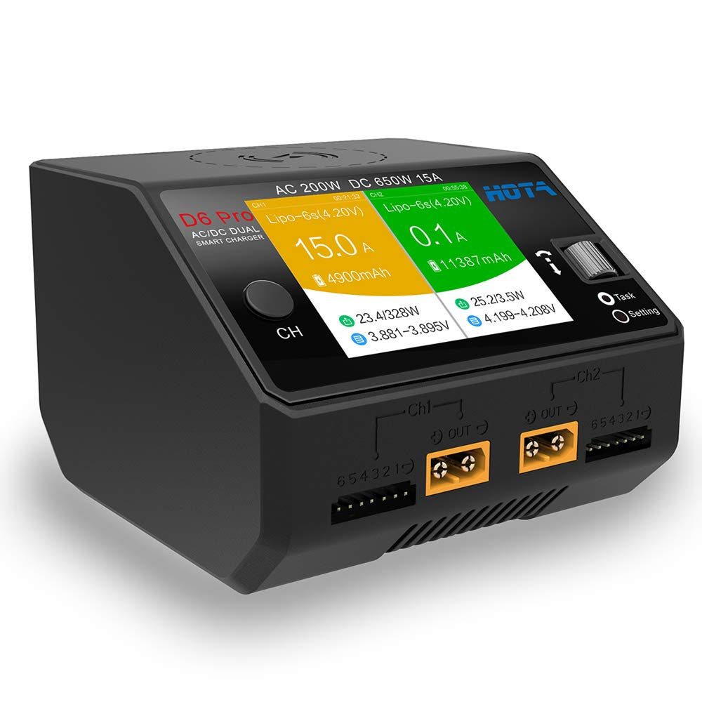HOTA D6 Pro Lipo Balance Charger Powerful Duo Smart Charger//Discharger Dual 15A