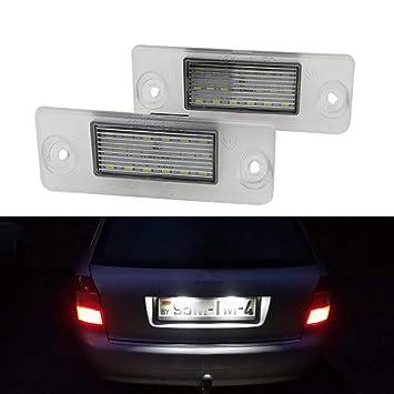 DONGMAO 2 unids 18 LED número Placa matrícula Luces de la lámpara para A/UDI