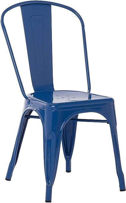 Image ofSKLUM Pack 4 Sillas LIX Azul Lapislázuli Estilo Industrial Acabado Brillante