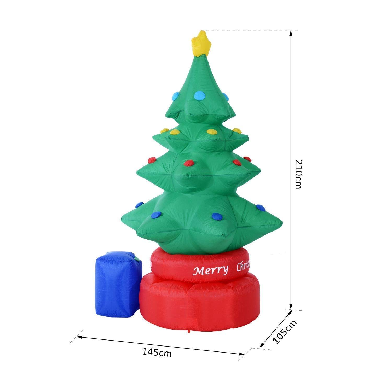 Amazon Com Zyx Inflatable Christmas Tree Rotating Christmas Tree