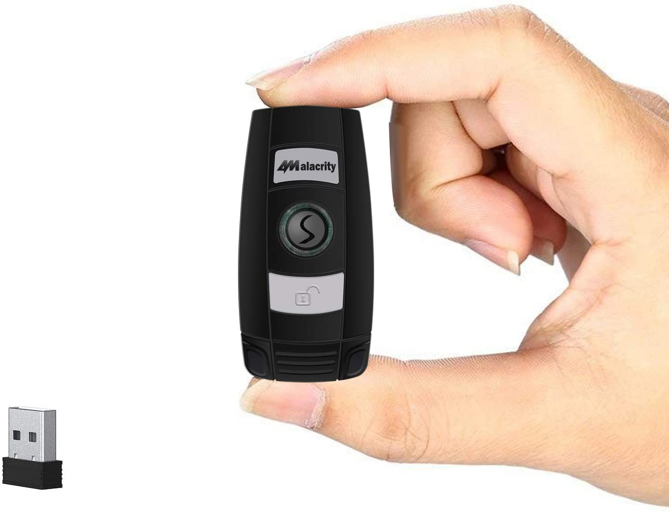 1D 2D Bluetooth Wireless Barcode Scanner,Alacrity Portable QR Handheld Mini Barcode Reader for Windows,Android,iOS,Mac.Able to Scan Codes on Screen