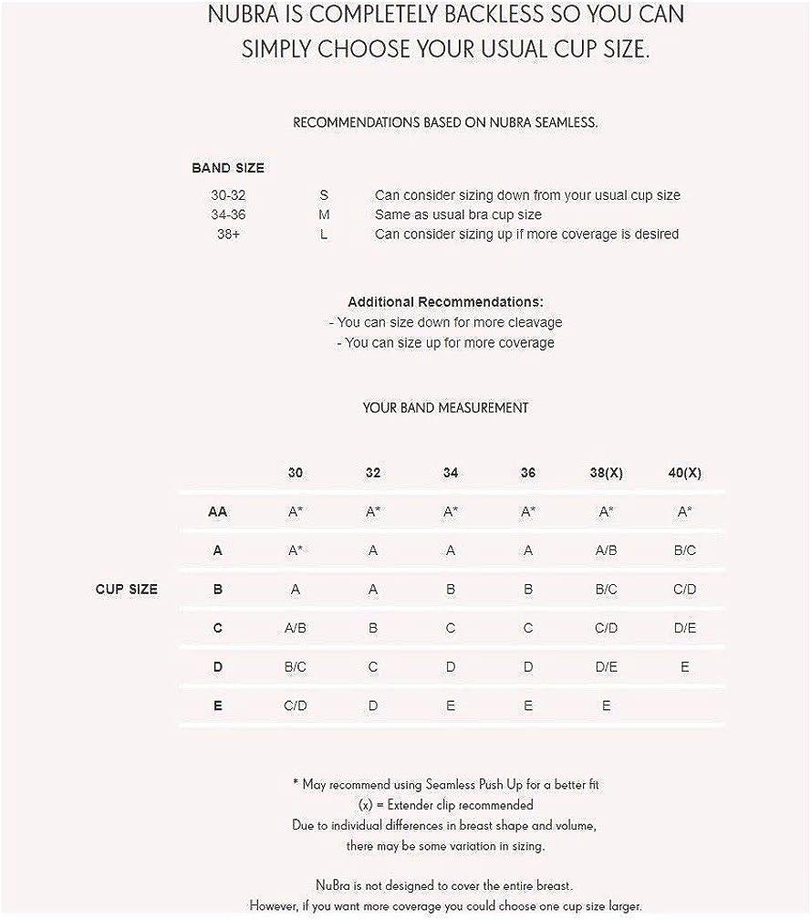 NuBra SE558 Soutien-gorge adh/ésif en U avec demi-tasses