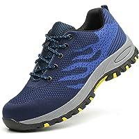 Xindiqiu Zapatos de Seguridad Unisex Zapatillas de Trabajo con Puntera de Acero Transpirable Botas de Seguridad Calzado…