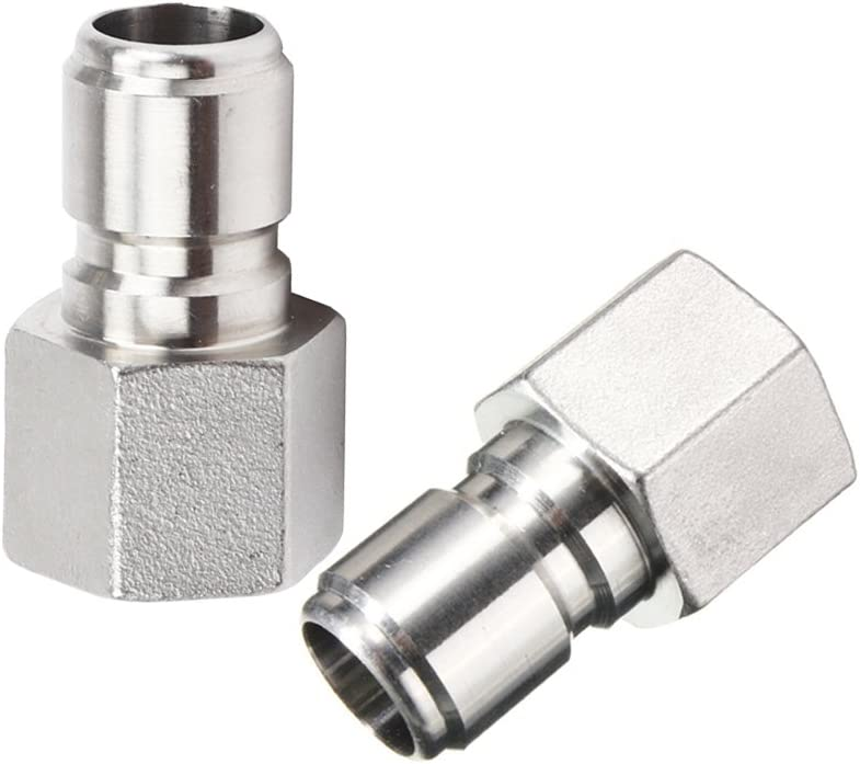 """2Pcs Stainless Steel Female Quick Disconnect FPT 1/2"""" Homebrew Fitting Connector Homebrewing by ProMaker (FPT Male)"""