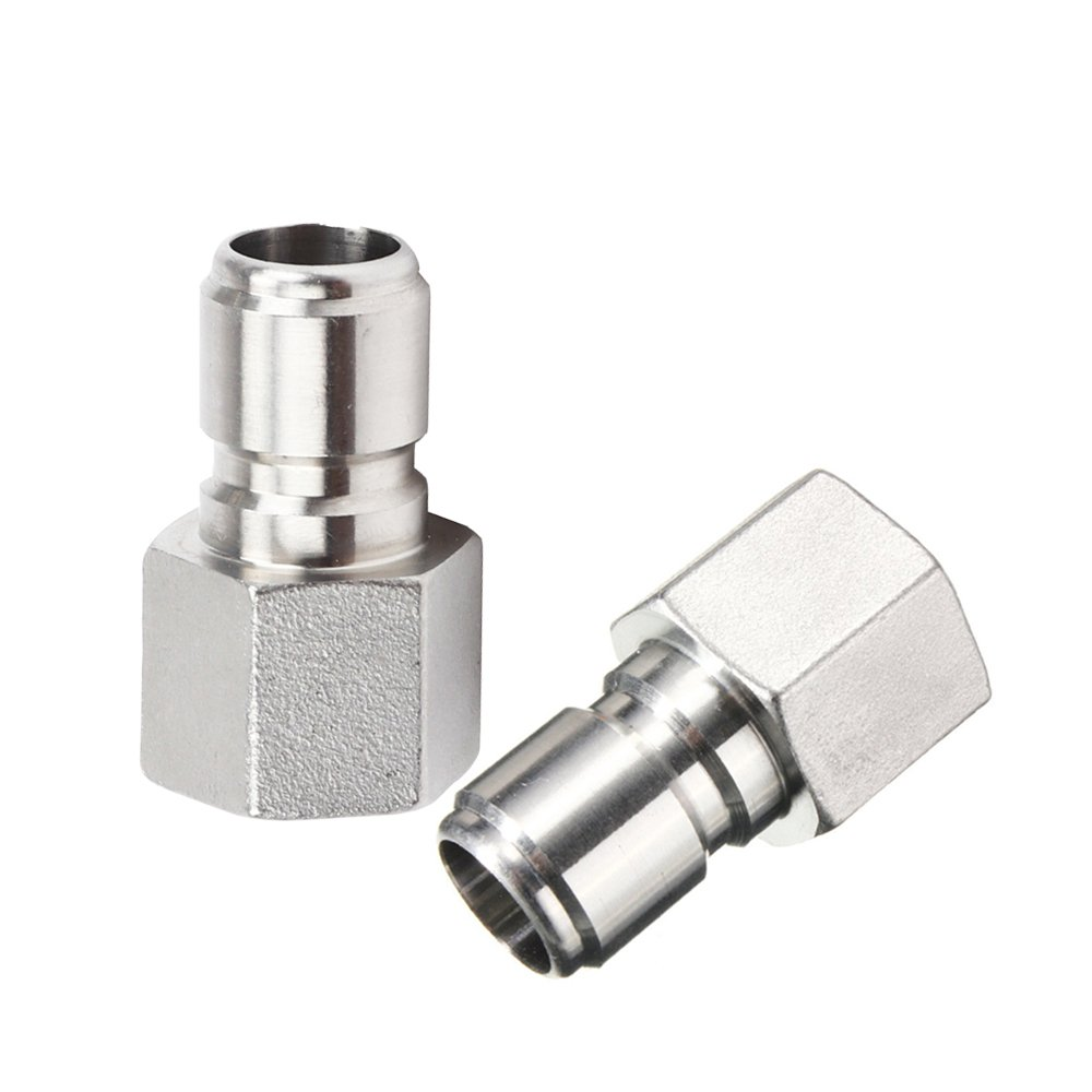 2Pcs Stainless Steel Female Quick Disconnect FPT 1/2'' Homebrew Fitting Connector Homebrewing by ProMaker (FPT Male)