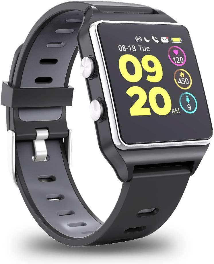 Smartwatch GPS, Reloj Inteligente Impermeable IP68 Pulsera Actividad Hombre Mujer, Inteligente Reloj Deportivo Reloj Fitness con Pantalla Táctil Completa Pulsómetro Cronómetros para iPhone iOS Android