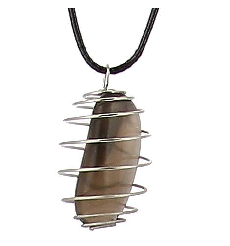 Axstore Market - Collar Piedra Natural de Cuarzo Ahumado con ...