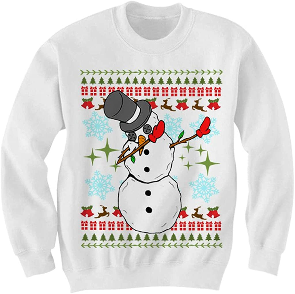 Snowman Dabbing Christmas Sweater Ugly Sweaters