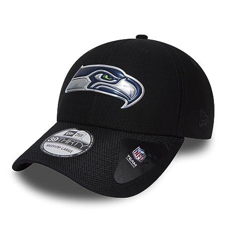 New Era 39Thirty Cap - LIQUID Seattle Seahawks black  Amazon.co.uk ... 8e2df4236