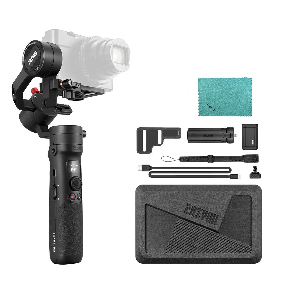 Zhiyun CRANE-M2 Compact 3-axis Handheld Gimbal: Amazon.co.uk ...