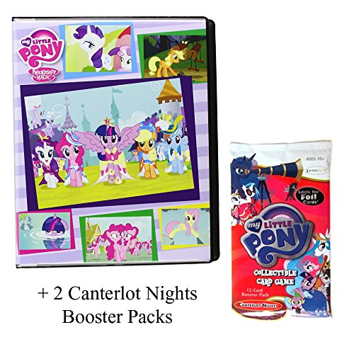 My Little Pony Ultra Pro 4 Pocket Portfolio + 2 My Little Pony Canterlot Nights Booster Packs - 3 Piece Bundle