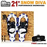 New MTN Man Woman Kid Youth 21 blue Snowshoes with Nordic Walking Pole Free Bag snowshoe by MTN Snowshoes