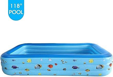 Mafiti BP300 amplia piscina inflable rectangular,Tamaño grande Ideal para fiestas de niños, uso en el jardin, al aire libre o para refrescarse con un baño privado.: Amazon.es: Juguetes y juegos